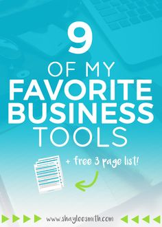 Business tools save you time and money and make your business run much more smoothly. Check out my nine favorite picks plus get your free list of biz tools!