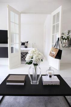 Blumen Dekoration weiße Hortensien
