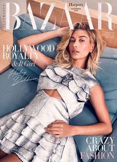 Hailey Baldwin on Harper's Bazaar Magazine Australia November 2016 Cover