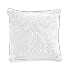 King Charles Matelessae 18-Inch Square Pillow in White - BedBathandBeyond.com