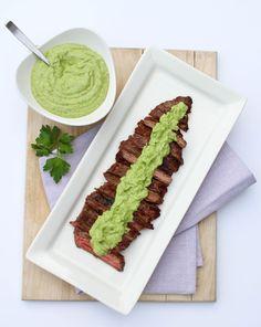 Flank Steak with Creamy Chimichurri via @rdkitchen