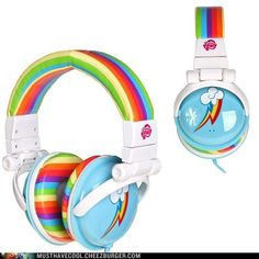 My Little Pony Rainbow Dash Headphones - Cheezburger