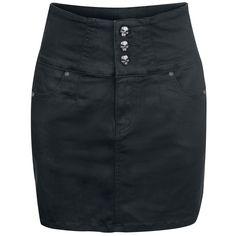 High Waist Skull Skirt Rock Rebel by EMP/Short skirt