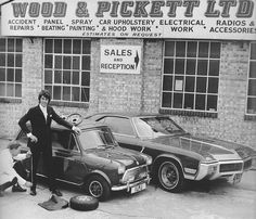 Wood & Pickett 1968 by Shilpot Classic Mini, Classic Cars, Radios, Rover Mini Cooper, International Man Of Mystery, Mini Morris, Car Activities, Les Beatles, Car Trailer