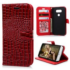 Luxury Cases For LG G5 Crocodile Grain PU Leather Case Cover Flip Stand Full Protective Housing For LG G5 Card Slot Hand Strap US $6.73