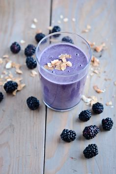 blackberry coconut smoothie  #smoothie #drink #healthy #fruit #vegetables