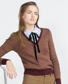 Image 5 of MICRO JACQUARD SWEATER from Zara