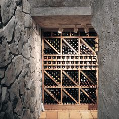 If you're fortunate enough to have an underground space, this is the perfect cellar option!