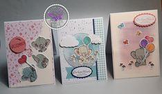 Drei Karten zur Geburt 2nd Baby, Cards