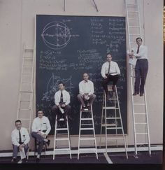 At NASA's Drawing Board. Can you imagine what great things were thought up here? (photo: J R Eyerman)