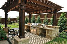 Waterview Series model home | Outdoor Summer Kitchen | Flickr