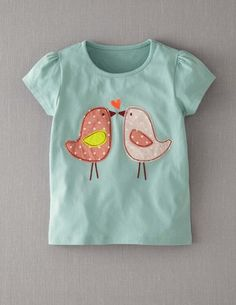 T-Shirt mit Patchwork-Applikation http://www.bodendirect.de/