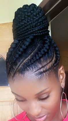 ALL HAIR MAKEOVER: African ponytail cornrow