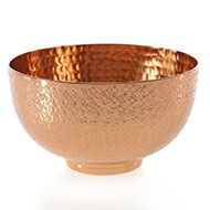 Large footed bowl centerpiece vessel - round table vessel