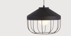 Arthur diepe hanglamp, grijs