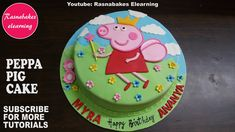 peppa pig birthday fondant cake design ideas for kids decorating tutorial video Simple Birthday Cake Designs, Easy Cakes For Kids, Birthday Cakes Girls Kids, Cake Designs For Kids, Twin Birthday Cakes, Cricket Birthday Cake, Birthday Cake Video, Birthday Cake Gift, Peppa Pig Birthday Cake