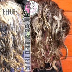 Naturally Curly  Before on the left-After on the right. This was a curl discovery and color Revamp. What you see as frizz I see as a wave or curl waiting to be discovered. Let me help you through your hair journey ❤️❤️❤️Carleen Sanchez Nevada's Curly Hair and Color Expert 775.721.2969