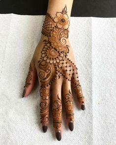 Arabic Bridal Mehndi Design For the Hands