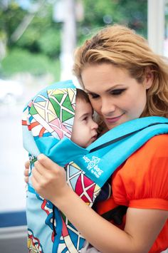 Stylish baby carriers for International Babywearing Week we love the colors of the handmade Kaleidoscope Baby Carrier by Bagy on Etsy