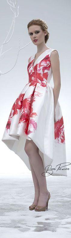 Isabel Sanchis ~ Spring Floral Dress, Red White 2015 jαɢlαdy