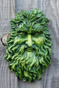 Wall Plaque Greenman choose your colors I'd stick with lettuce ggggreen.