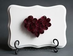 Quilled Heart Plaque: Tutorial