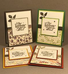 Hand Stamped Cards designed by Jennifer Granstrand for Breast Cancer Awareness Cardmaking event on 10/21/17. Made with Painted Harvest Stamp Set and Painted Autumn Designer Paper by Stampin' Up!