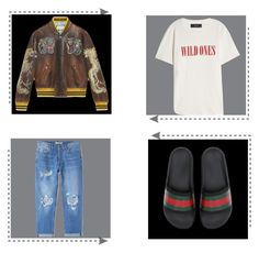 """Untitled #17"" by fahmigunzo ❤ liked on Polyvore featuring Gucci, MANGO, AMIRI, men's fashion and menswear"