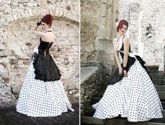 Die schönsten Brautkleider / annabelle (Redaktion: Katinka Oppeck) Ausgefallenes Design: Kleid Lou Anne von Deva La Vie, ca. 1273 Fr., erhältlich bei Marryjim.com