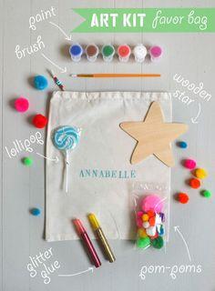 make your own art kit favor bag | artbarblog.com