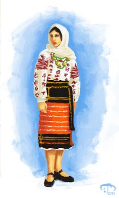 costum popular romanesc Folk Embroidery, Embroidery Patterns, Modern Embroidery, History Of Romania, Folk Costume, Costumes, Fashion Art, Folk Art, 1 Decembrie