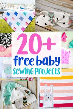 Sewing For Beginners Easy 20 Free Baby Sewing Projects. Get these Free Baby Sewing Patterns and Tutorials to sew something adorable up for your favorite baby! Baby Sewing Projects, Sewing Projects For Beginners, Sewing Hacks, Sewing Tips, Sewing Ideas, Baby Sewing Tutorials, Sewing Crafts, Fat Quarter Projects, Leftover Fabric
