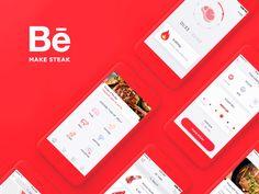 """다음 @Behance 프로젝트 확인: """"Make Steak Application"""" https://www.behance.net/gallery/44389359/Make-Steak-Application"""