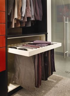 A different way to hang pants - #home decor ideas #home design - http://yourhomedecorideas.com/a-different-way-to-hang-pants/