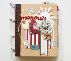 kim watson ★ paper crafts ★ designs: December daily + Part #1 Brag Book with St. Nick