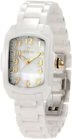 Was $995.00 now only $192.31 for this Invicta Women's 1961 Lupah White Mother-Of-Pearl Dial White Ceramic Watch. Click on pic for deal...