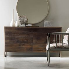 Eminently stylish, a dark oak finish paired with artisan metal provides a contemporary aesthetic in my Manhattan 8 Drawer Dresser.