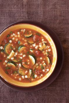 Tomato, Zucchini  Fresh Corn Soup