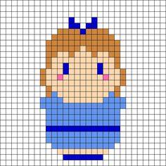 Wendy - Peter Pan Perler Bead Pattern