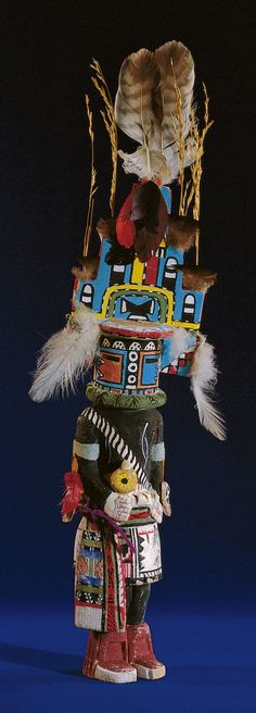 Otto Pentewa, Katsina figurine, Hopi, New Oraibi, Arizona, carved before 1959