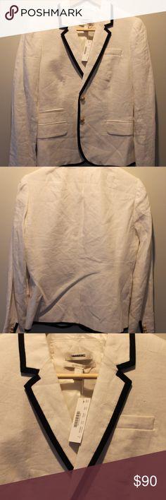 J. Crew White Linen Schoolboy Blazer - 6 NWT!  J. Crew White Linen Schoolboy Blazer - size 6!  Perfect for summer days in the office. J. Crew Jackets & Coats Blazers