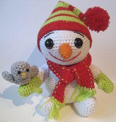 Snowman, Bird and Dog Pattern