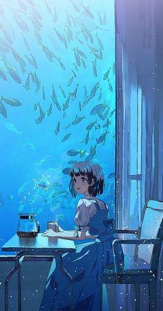 Pretty Anime Girl, Anime Art Girl, Anime Girls, Cartoon Kunst, Cartoon Art, Fantasy Kunst, Fantasy Art, Aesthetic Art, Aesthetic Anime