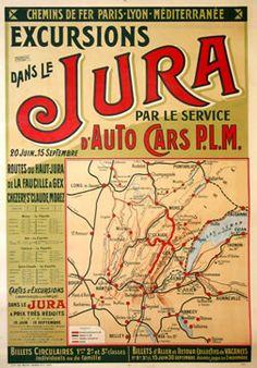 PLM - Excursions dans le Jura par le service d'autocars - 1913
