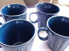 TAMS England 5 Blue Coffee Cups