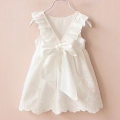 vestidos infantis on sale at reasonable prices, buy VORO BEVE 2017 Summer New Princess Girl Dress kids Big Bow Girl Dress Children Clothing dress Girls Vestido Infantis from mobile site on Aliexpress Now! Baby Outfits, Dress Outfits, Kids Outfits, Trendy Outfits, White Sleeveless Dress, Dresses Kids Girl, Baby Dresses, Wedding Dresses, White Girls