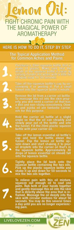 Lemon Oil: Fight Chronic Pain with the Magical Power of Aromatherapy #Aromatherapy