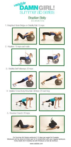The BRAZILIAN BELLY workout is designed to hit both your upper & lower abs to bring you a lean, flat stomach that will make you LOOK & FEEL great! Do the Summer AB Series workouts 2-3x a week, and remember alternating workouts will make it more challenging, keep your body guessing and get you maximum results!!!