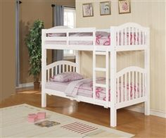 12 Interesting White Bunk Beds For Kids Room: Acm White Finish Twin Bunk Bed With Trundle Picture White Bunk Beds Childrens Bunk Beds, Girls Bunk Beds, Cool Bunk Beds, Twin Bunk Beds, Kid Beds, Twin Twin, Beds Uk, White Wooden Bunk Beds, Solid Wood Bunk Beds