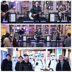 Fall Out Boy performing on GMA